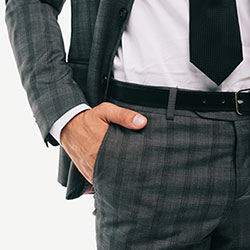 custom suit pants from formally modern tuxedo