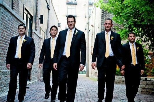 Alex Doll and groomsmen