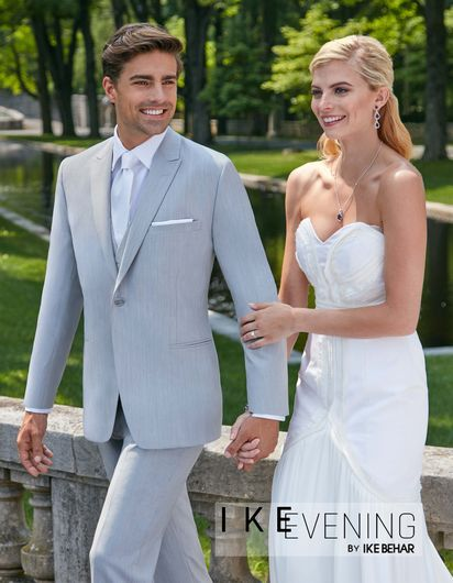 Ike Behar Light Grey Suit