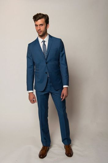hugo boss navy blue slim fit suit