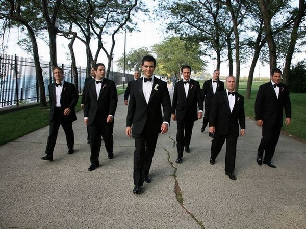 Dave Kushner and groomsmen