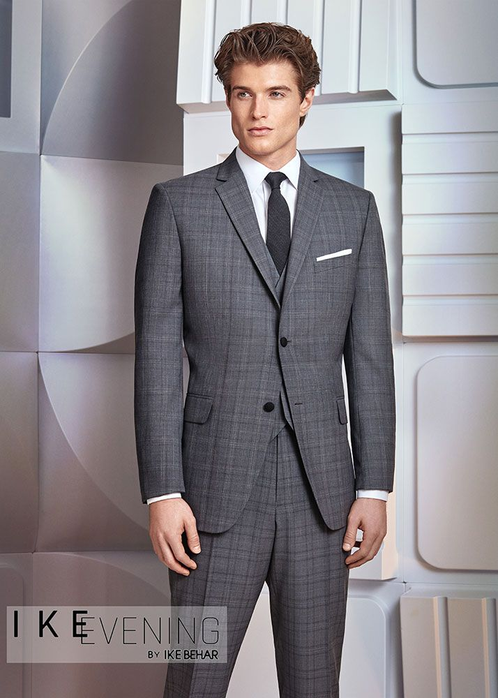 Plaid Suit Ike Behar