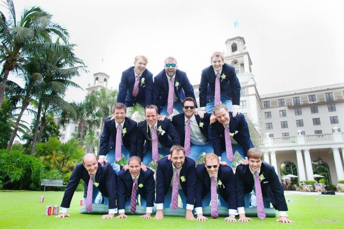 Chad Richardson and groomsmen