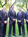Devin Patterson and groomsmen